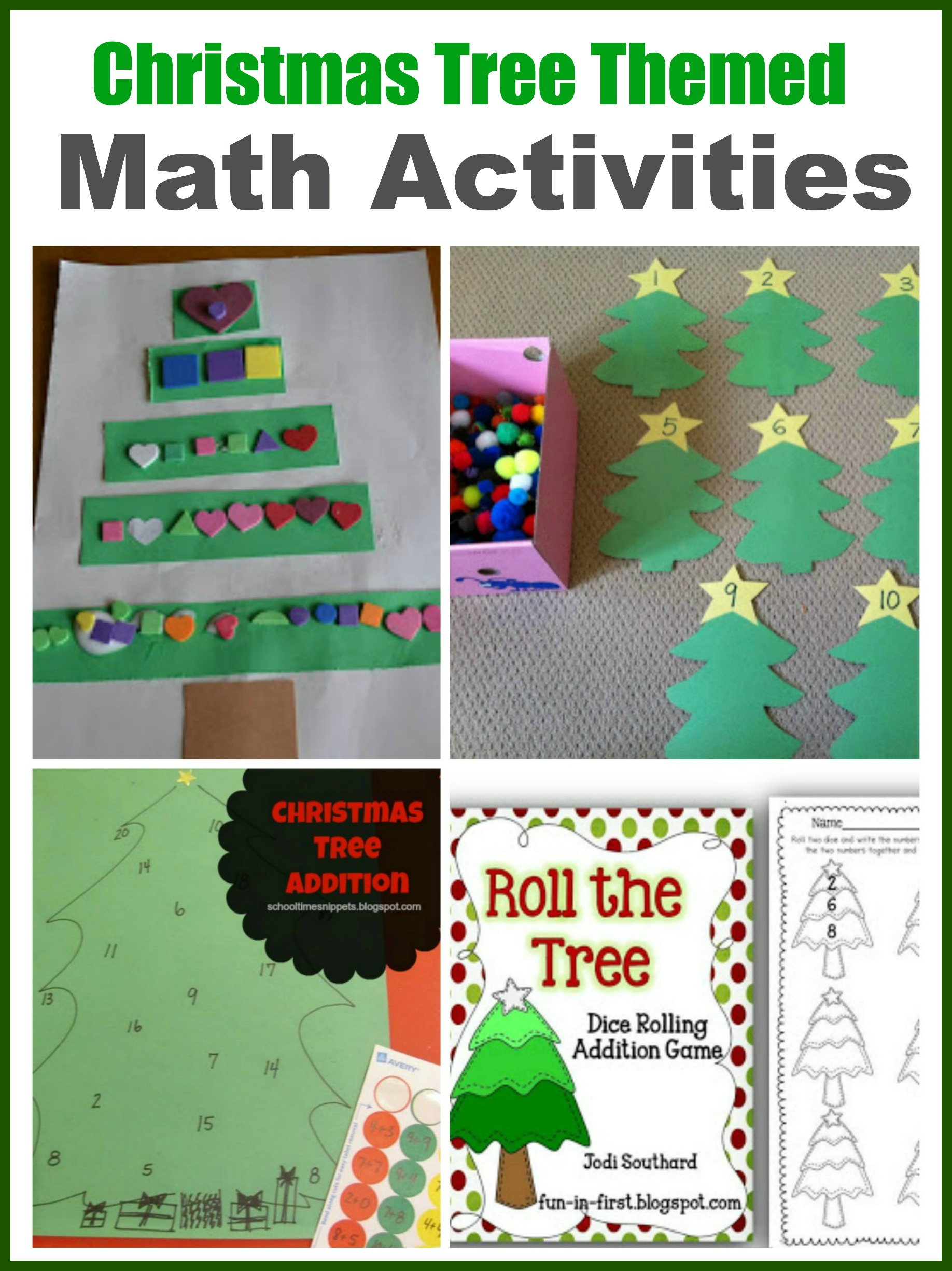 Christmas Tree Theme For Preschool And Early Elementary