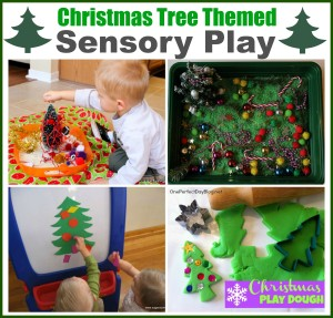 Christmas tree sensory play