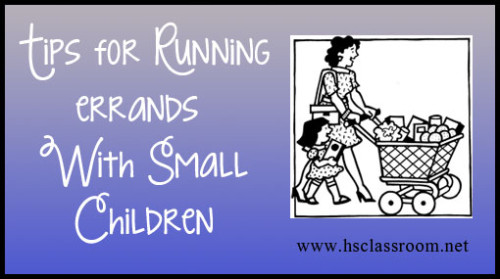 tips for running errands with small children