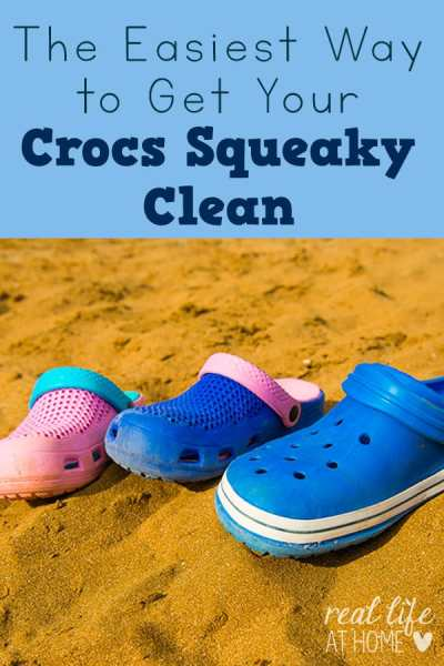 a458fc9001abd Crocs can get dirty and gross! Here are tips for getting your Crocs squeaky  clean