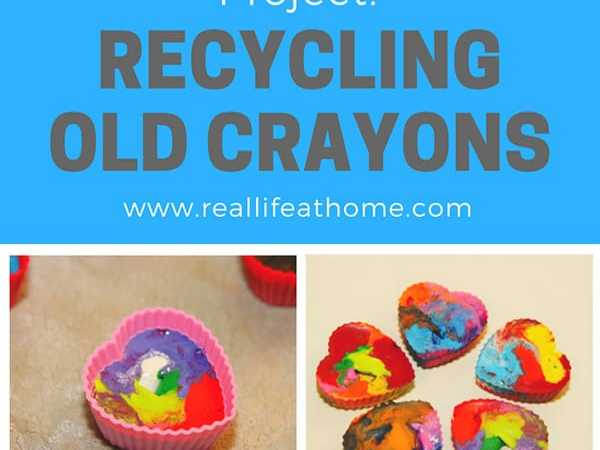 Recycling Old Crayons into Rainbow Crayons: Fun Art Project