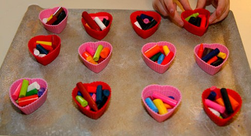 Upcycling Old Crayons to Make Fun, New Rainbow Crayons