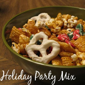 sweet holiday party mix