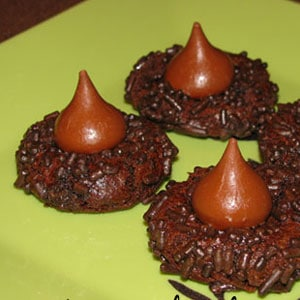 super duper chocolate kiss cookies