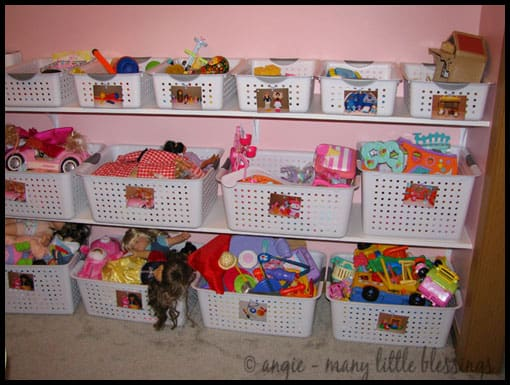 Using Picture Labels to Help Pre-Readers Keep Their Toys Organized