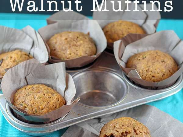 Hearty and Delicious Zucchini Muffins with Raisins and Walnuts