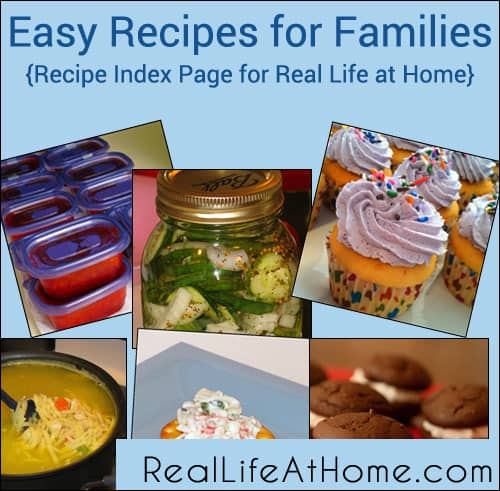 Real Life at Home Recipe Index Page