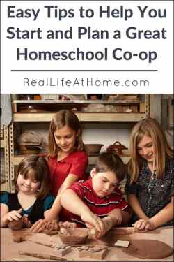 Thinking of starting a homeschool co-op? Here are easy tips for how to start a homeschool co-op.   Real Life at Home