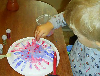 Adding Confetti on Fireworks Art Project (from Real Life at Home)