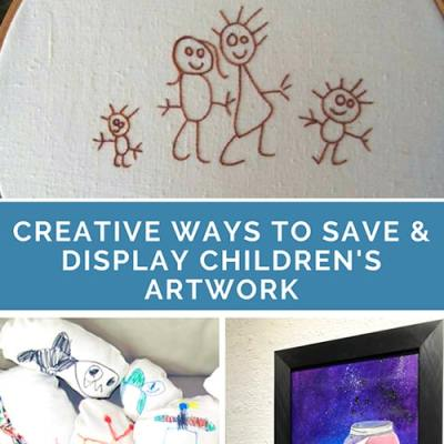 Creative Ways to Save and Display Children's Artwork: Wonderful ways to make your children's artwork into keepsakes | Real Life at Home