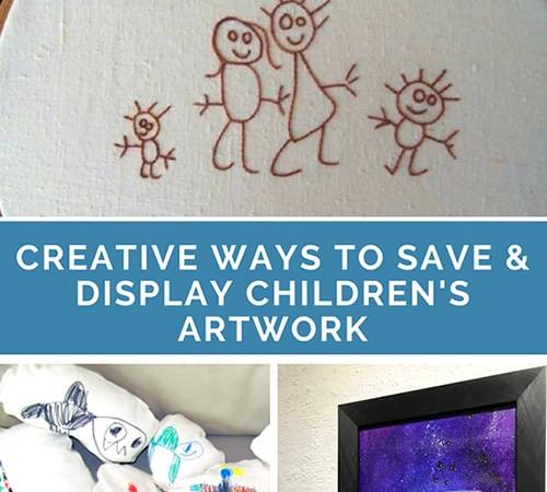 Creative Ways to Save and Display Children's Artwork