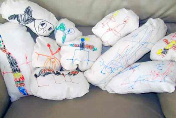 How to Turn Your Children's Artwork into Stuffed Animals or Lovies