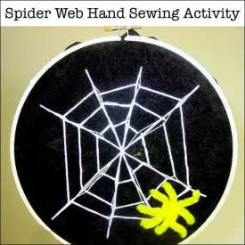 Fun Spider Craft for Kids: Spider Web Hand Sewing Activity