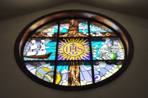 Stained Glass Window at St Francis Xavier Church