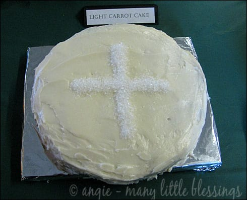 Homemade First Communion Host Cake
