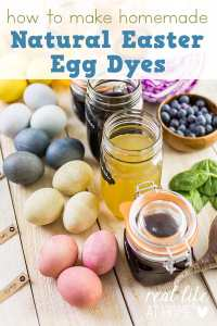 Want to skip store bought dyes this year for Easter eggs? Here are directions for how to make homemade natural Easter egg dyes. | Real Life at Home