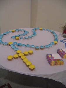 rosary cupcakes