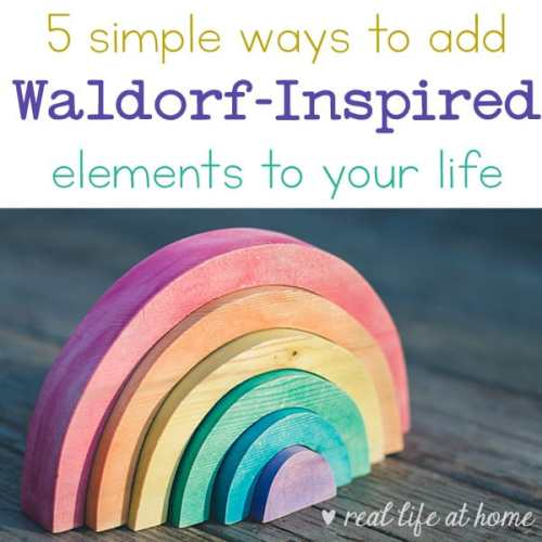 Make some of these easy, small steps toward adding Waldorf education elements to your lives and homeschooling in order to embrace more simplicity and authenticity.