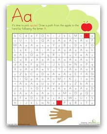 apple maze printable