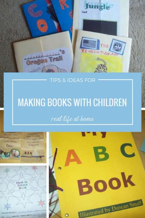 Tips and ideas for making books with children (in your homeschool or in the classroom). Book making provides a multi-sensory approach to learning: hands are busy, minds are exploding with ideas, connections are being made between topic and task.