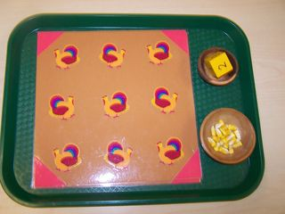montessori turkey math game