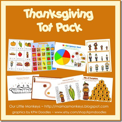 thanksgiving tot pack