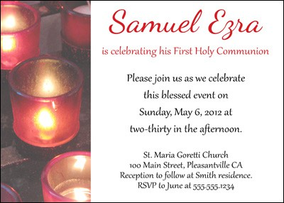 Prayer Candles Confirmation Invitation