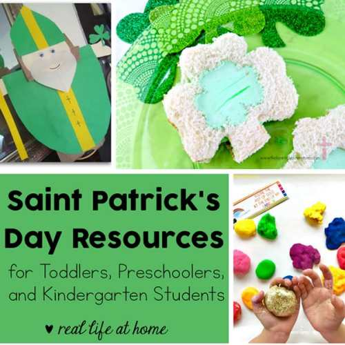 Looking for resources for a Saint Patrick's Day Unit Study? We're listing the best St Patrick's Day resources including books, crafts, recipes, and printables for toddlers, preschoolers, and kindergarteners.