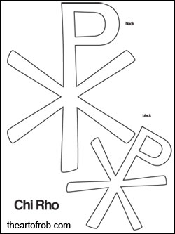 Chi Rho printable pattern page for First Communion Banners