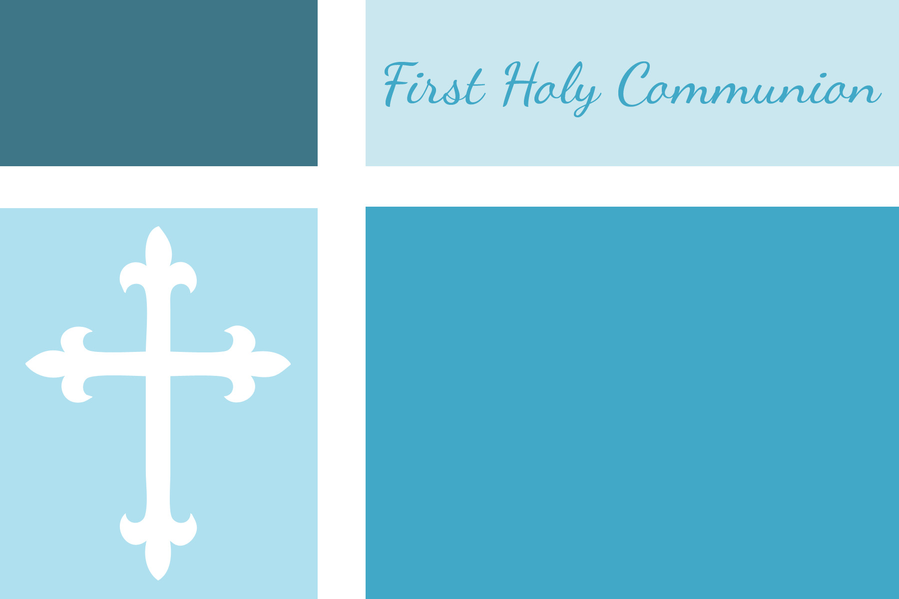 First Communion Baptism And Confirmation Invitations Or Announcements Free