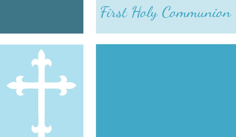 First Communion, Baptism, and Confirmation Invitations or Announcements {Free}