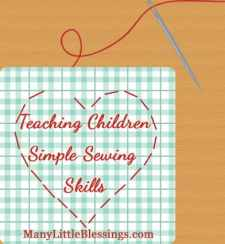 Teaching Children Simple Sewing Skills