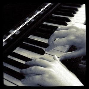 Noah at the piano