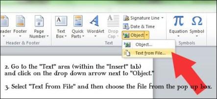 Merging Files in Microsoft Word 2010
