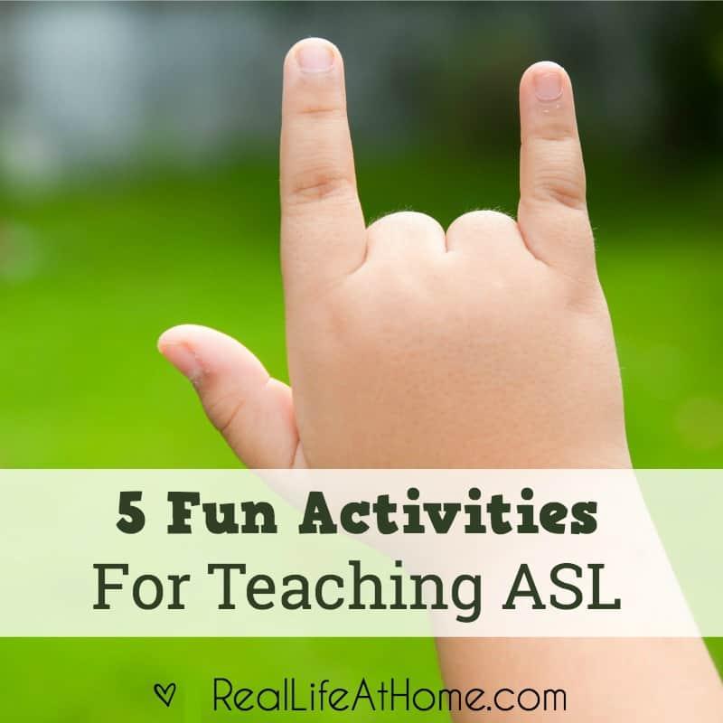 Teaching American Sign Language 5 Fun Activities