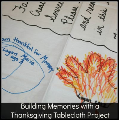 Building Memories with a Thanksgiving Tablecloth Project