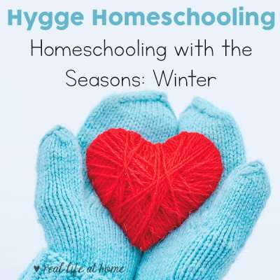When homeschooling with the seasons, the cold, dark months of winter are a perfect time to spend a little more time indoors, take it easy, work on projects, and set goals for the rest of the year. Read more ideas for hygge homeschooling during the winter.