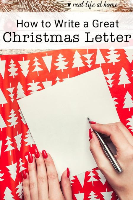 Need ideas for how to write a Christmas letter? Here are seven simple steps for writing a great Christmas letter this year! | Real Life at Home