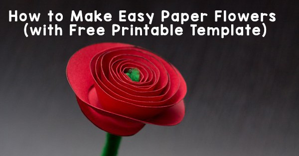 How To Make Easy Paper Flowers For Kids Free Paper Rose Template
