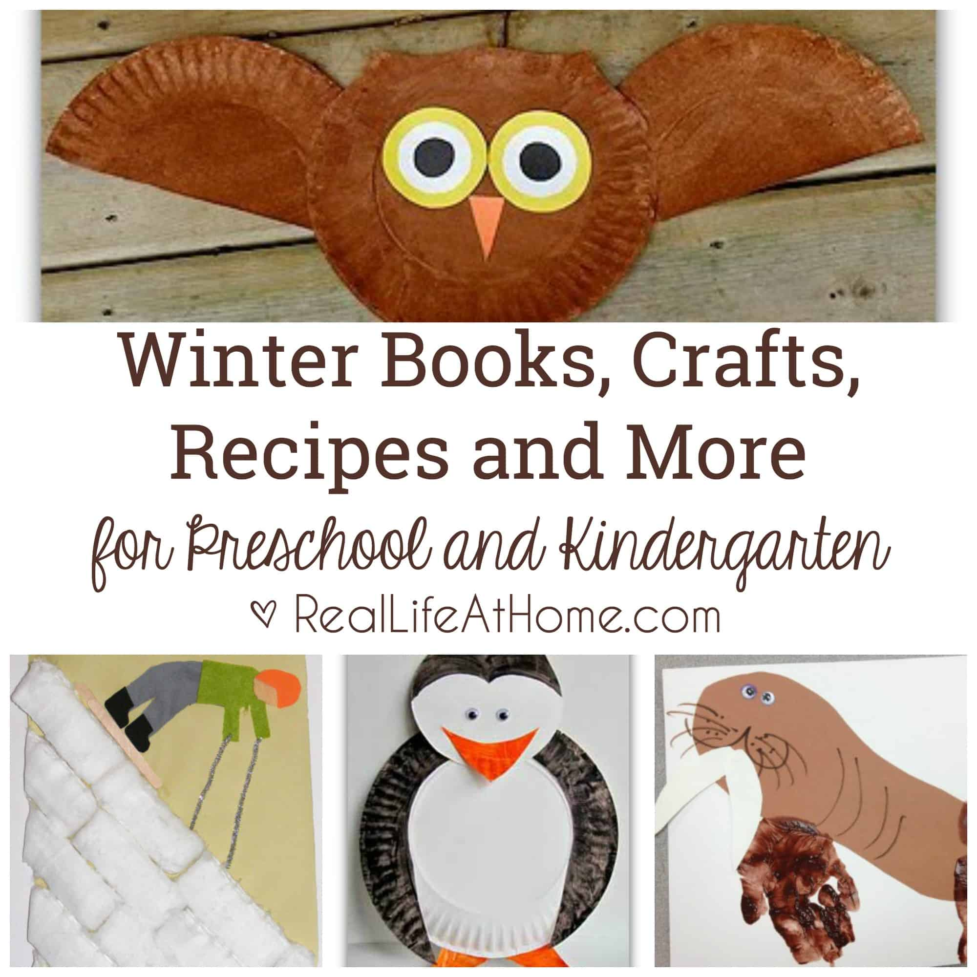 Winter Books Crafts Recipes And More For Preschool And