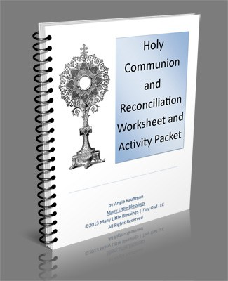 Holy Communion and Reconciliation Worksheet and Activity Packet {Plus a Bundle Offer}