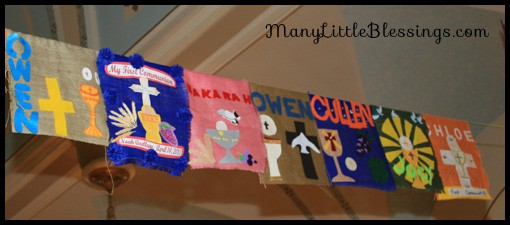 First Communion Banner Examples