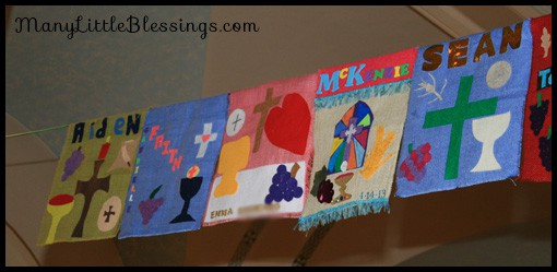 examples of first communion banners