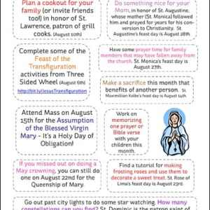 10 August Activities for Catholic Families