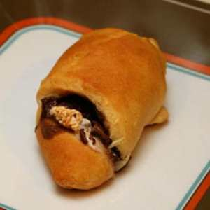 nutella and marshmallow croissant