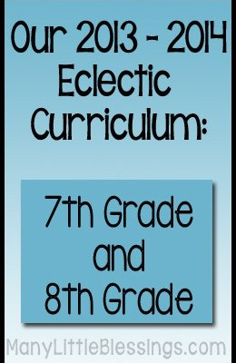 7th and 8th Grade Curriculum