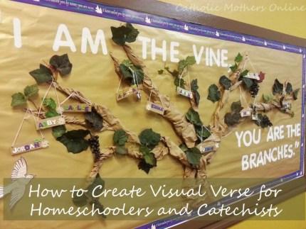 I Am the Vine Bulletin Board Activity | Catholic Mothers Online #Catholic #Catechist