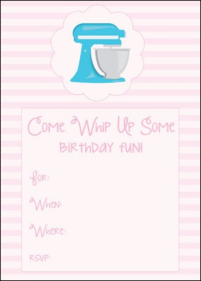 baking birthday party invitation printable | Many Little Blessings