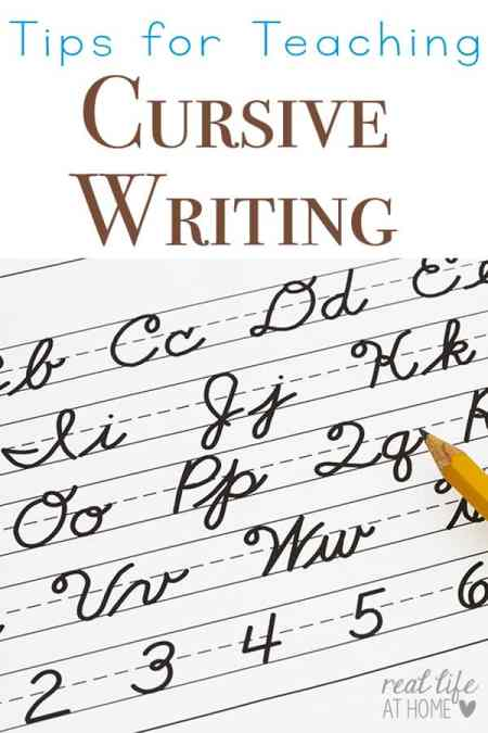 Tips for Teaching Cursive Writing (and Why You Should Teach it First)