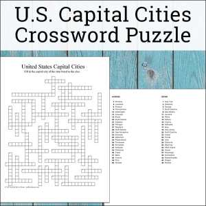Free U.S. State Capitals Crossword puzzle